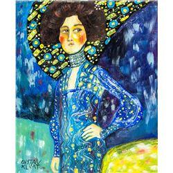 Austrian Art Nouveau OOC Signed Gustav Klimt