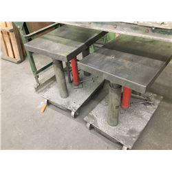 (2) LEXCO 2000 Lbs. Cap. Hydraulic Die Lift Tables (2) LEXCO 2000 Lbs. Cap. Hydraulic Die Lift Table
