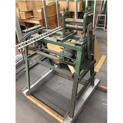 """Shop Made 8"""" Wide x 1-1/2"""" Dia. Rolls Initial Pinch Powered Roll On Metal Stand"""