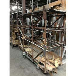 "Approx. (50) 3 Shelf Rolling Parts Carts 26-1/2""x 101"" – Taller Storage Units"