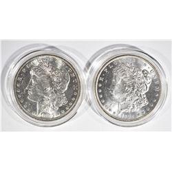 1883-O & 84-O CH BU MORGAN DOLLARS IN CAPSULES
