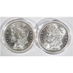 1884-O & 1885 CH BU MORGAN DOLLARS
