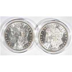 1885-O & 1886 CH BU MORGAN DOLLARS IN CAPSULES