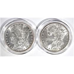 1887 & 1898-O CH BU MORGAN DOLLARS IN CAPSULES