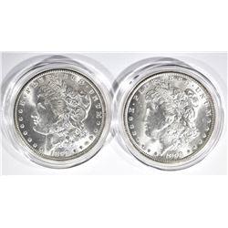 1898-O & 1899-O CH BU MORGAN DOLLARS IN CAPSULES