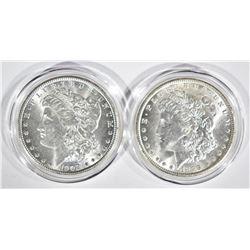 1899-O & 1902-O CH BU MORGAN DOLLARS IN CAPSULES