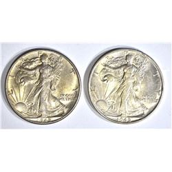 1-'45, 1-'45S  WALKING LIBERTY HALF DOLLARS