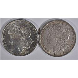 1882 & 1889 MORGAN DOLLARS  CH BU