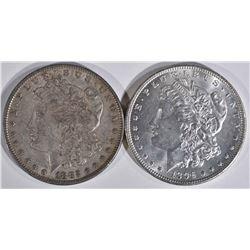 1882 & 1896 MORGAN DOLLARS  CH BU