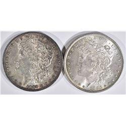 1889 & 1885 MORGAN DOLLARS  CH BU