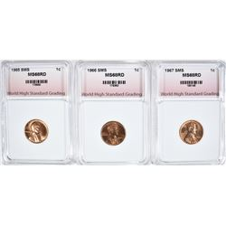 1965 SMS, 1966 SMS, 1967 SMS LINCOLN CENTS