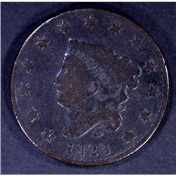 1823/2 LARGE CENT, VG KEY DATE