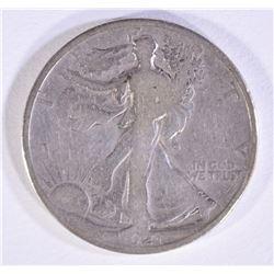 1921 WALKING LIBERTY HALF VG