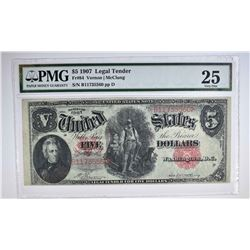 1907 $5 LEGAL TENDER RED SEAL