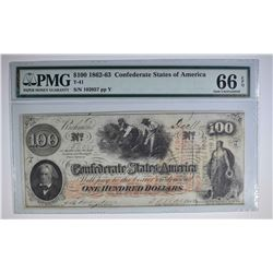 1862-63 $100 CONFEDERATE STATES OF AMERICA