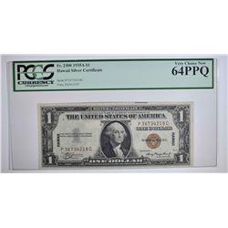 1935A $1 HAWAII SILVER CERTIFICATE