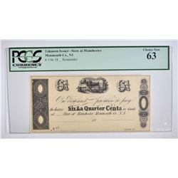 1800s 6 1/4 CENTS  PCGS 63