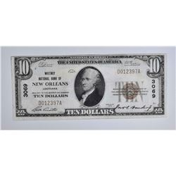 1929 TY1 $10 NATIONAL CURRENCY  VF/XF