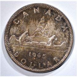 1965 SILVER CANADA DOLLAR  GEM BU