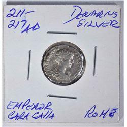 211-217 AD SILVER DENARIUS