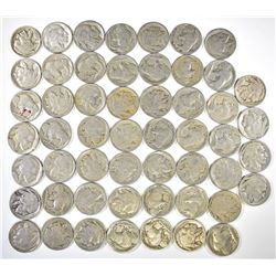53 BETTER BUFFALO NICKELS EARLY DATES AS FOLLOWS: