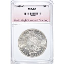 1880-O MORGAN DOLLAR, WHSG GEM BU
