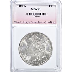 1884-O MORGAN DOLLAR, WHSG SUPERB GEM BU