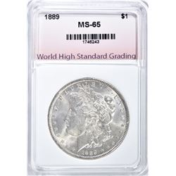 1889 MORGAN DOLLAR, WHSG GEM BU