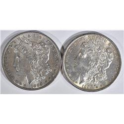 1889 & 1888 MORGAN DOLLARS  CH BU