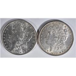 1886 & 1896 MORGAN DOLLARS  CH BU