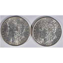 1900 & 1885 MORGAN DOLLARS  CH BU
