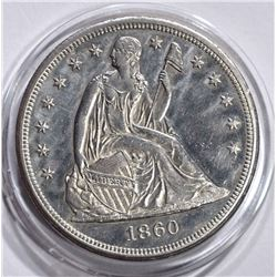 1860-O SEATED LIBERTY DOLLAR  BU