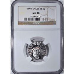 1997 PLATINUM $25 EAGLE NGC MS 70