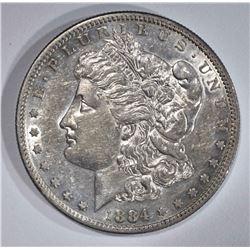 1884-S MORGAN DOLLAR  NICE AU