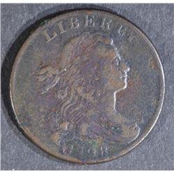 1798 DRAPED BUST LARGE CENT, VF porosity