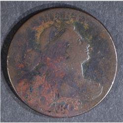 1802 DRAPED BUST LARGE CENT, FINE 2-238 R-4