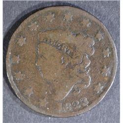 1823/2 LARGE CENT VG