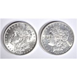 1882 & 1886 CH BU MORGAN DOLLARS