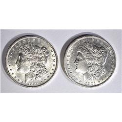 1884 & 1901-O CH BU MORGAN DOLLARS