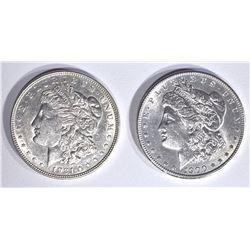 1900 & 1921-D CH BU MORGAN DOLLARS