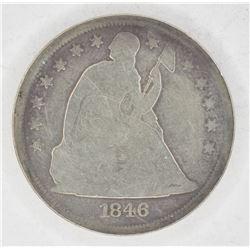 1846 SEATED LIBERTY DOLLAR VG
