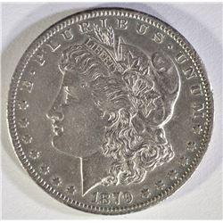 1879-CC CAPPED DIE MORGAN DOLLAR CH AU
