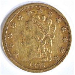 1836 $2.5 CLASSIC HEAD GOLD XF