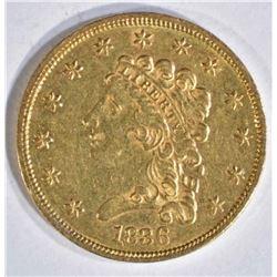 1836 $2.5 CLASSIC HEAD GOLD BU