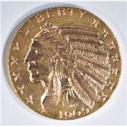 1909 $5 GOLD INDIAN CH BU
