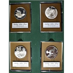 4 - STERLING SILVER PROOF FRANKLIN MINT HOLIDAY