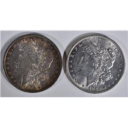 1896 & 1882 MORGAN DOLLARS  CH BU