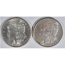 1889 & 1900 MORGAN DOLLARS  CH BU