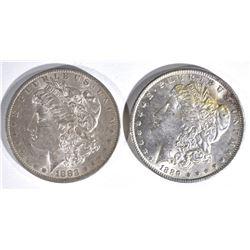 1883-O & 1889 MORGAN DOLLARS  CH BU