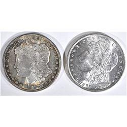 1887 & 1896 MORGAN DOLLARS  CH BU